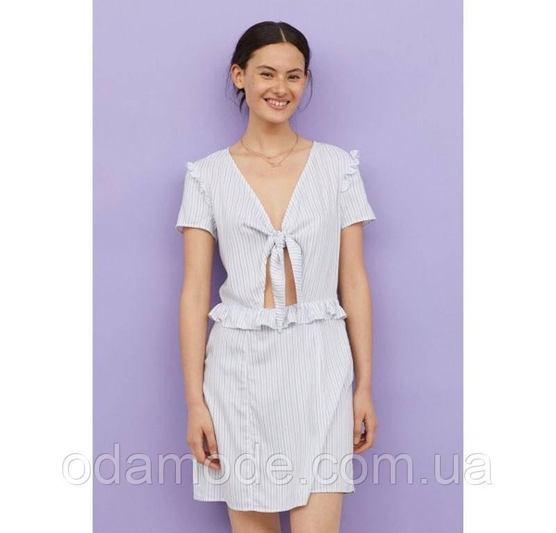 Женское платье H&M белое в полоску