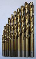 Сверла цил.  с титановым покрытием  ГОСТ 10902-77 Р6М5