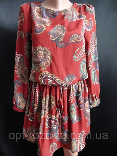 Платья молодежные шифоновые на пояске. Арт. 26252