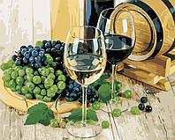 """Картина за номерами """"Виноград і вино"""" 40*50 см в коробці, ArtStory + акриловий лак"""