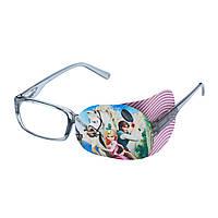 Окклюдер на очки текстильный детский на оба глаза