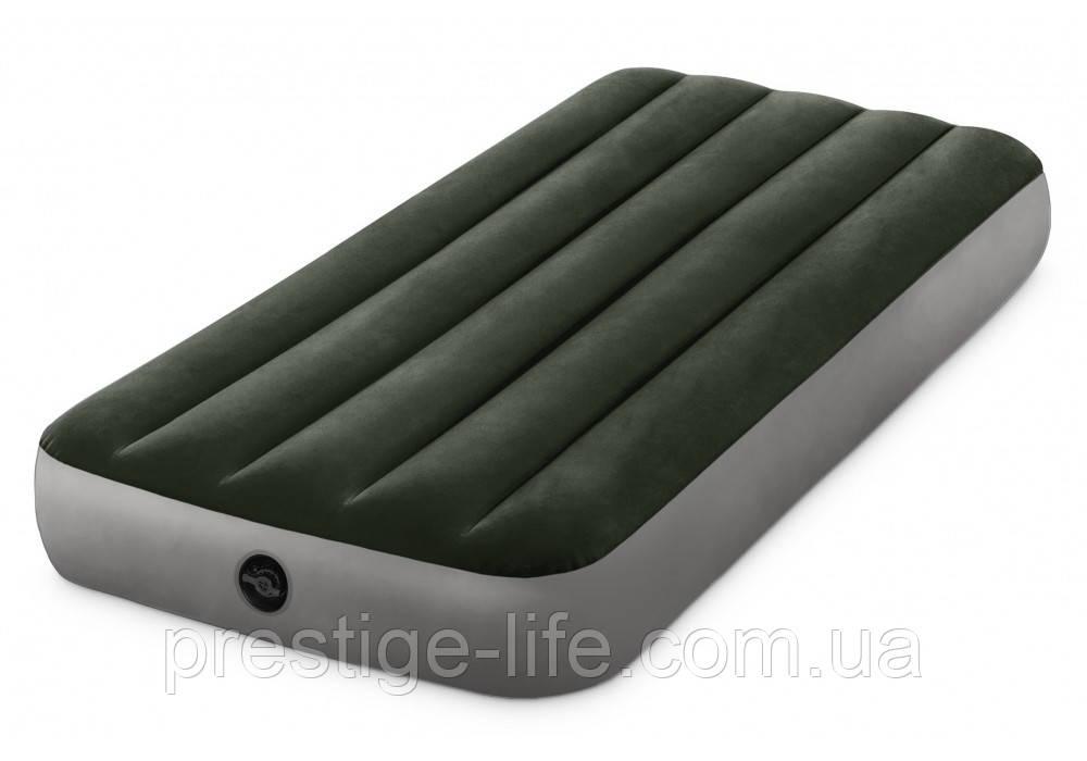 Надувной матрас Intex 64106 (191*76*25 см), с велюровым покрытием