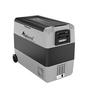 Компресорний автохолодильник Alpicool T-60 + APP.  Режим роботи  +20℃ до -20℃. (двокамерний).