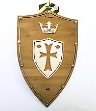 Деревянный Щит Крест цвет-Дуб