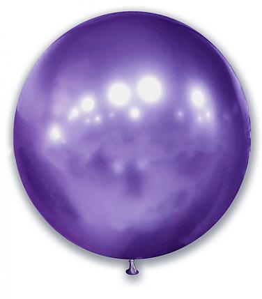 """Шар 21"""" (52 см) SHOW хром Violet (фиолетовый), фото 2"""