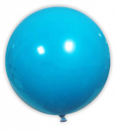 """Шар 21"""" SHOW-ШОУ пастель голубой, фото 2"""