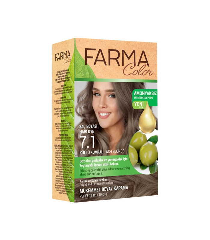 Крем-краска для волос без аммиака  7.1