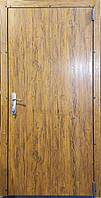 Технічна металеві двері модель оцинковка золотий дуб