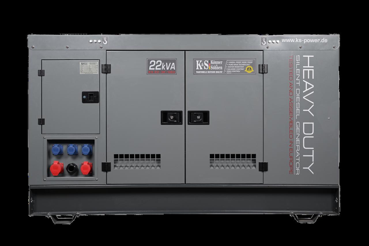Трехфазная дизельная электростанция Könner & Söhnen KS 22-3F/GED (22 кВт)