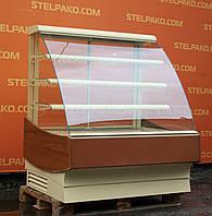Кондитерская холодильная витрина «Cryspi Elegia K 1240», 1.24 м., (Россия), золотая, Б/у