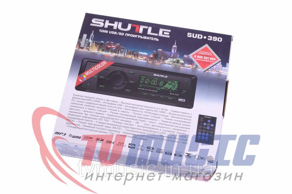 Автомагнитола Shuttle SUD-390 Black/Multicolor