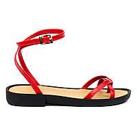 Босоножки Woman's heel красные (О-890), фото 1
