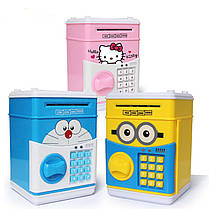 Детская копилка-сейф с кодовым замком и купюроприемником для бумажных денег Cartoon Saving Box, фото 2