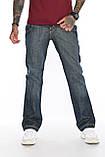Джинсы мужские OMATjeans 7027-408 клеш темно-синие, фото 3