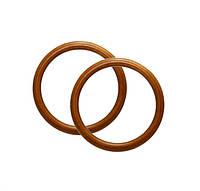 Ручки-кольца для сумок деревянные, цвет Светло-коричневый