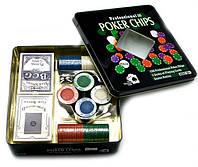 Покерный набор  на 100 фишек + 2 колоды карт