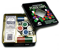 Покерный набор  на 100 фишек + 2 колоды карт, фото 1