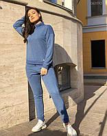 Спортивный костюм женский больших размеров Спорт №10 голубой