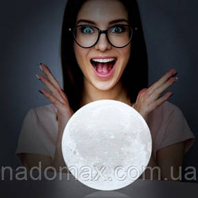 Настольный светильник 3D Moon Lamp от USB, фото 2