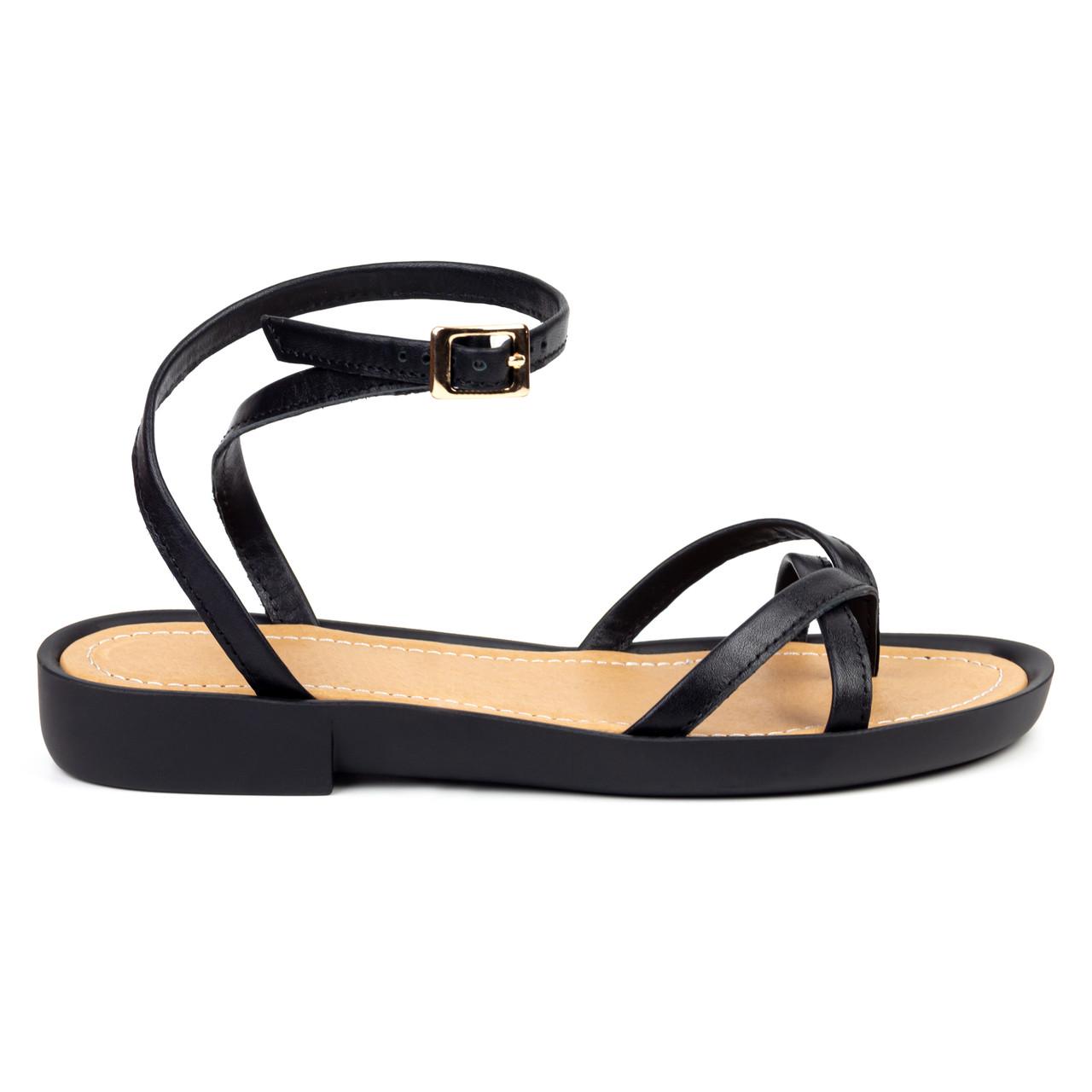 Босоножки Woman's heel черные (О-895)