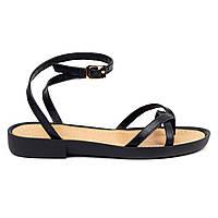 Босоножки Woman's heel черные (О-895), фото 1