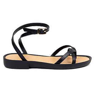 Босоножки черные женские 36-41 Woman's heel из натуральной кожи не заменимая летняя обувь