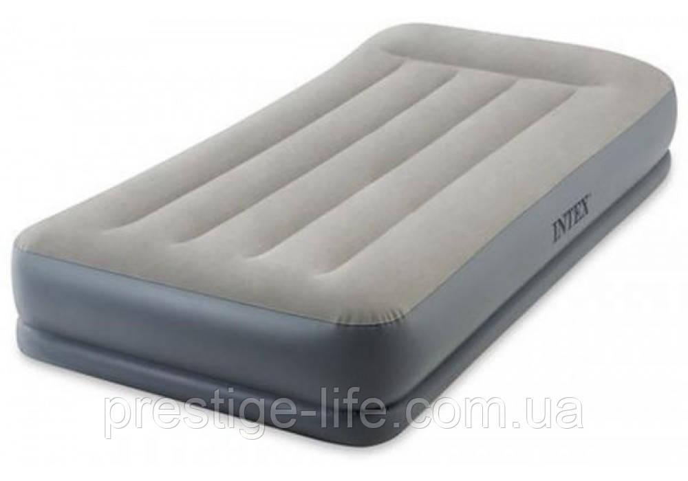 Надувная кровать с подголовником Intex 64116 (191*99*30 см)