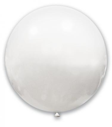 """Шар 24"""" (61 см) SHOW пастель White (белый), фото 2"""