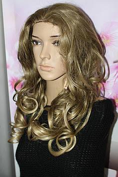Полупарик искусственные волосы термоволокно волнистые длинные золотистый