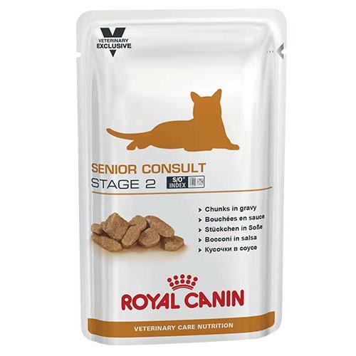 Влажный корм Royal Canin Senior Consult Stage 2 для кошек от 7 лет имеющих видимые признаки старения, 100 г