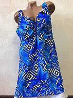 Купальник танкини ,большие размеры(66-60-70-72-74) sisianna 318001(голубой), фото 1