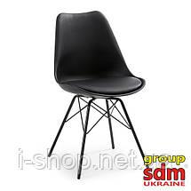 Стул Тау, металл, пластик, подушка, цвет черный, фото 2