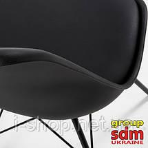 Стул Тау, металл, пластик, подушка, цвет черный, фото 3