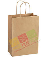 Паперовий пакет Крафт з крученими ручк 335*260*140 1/150