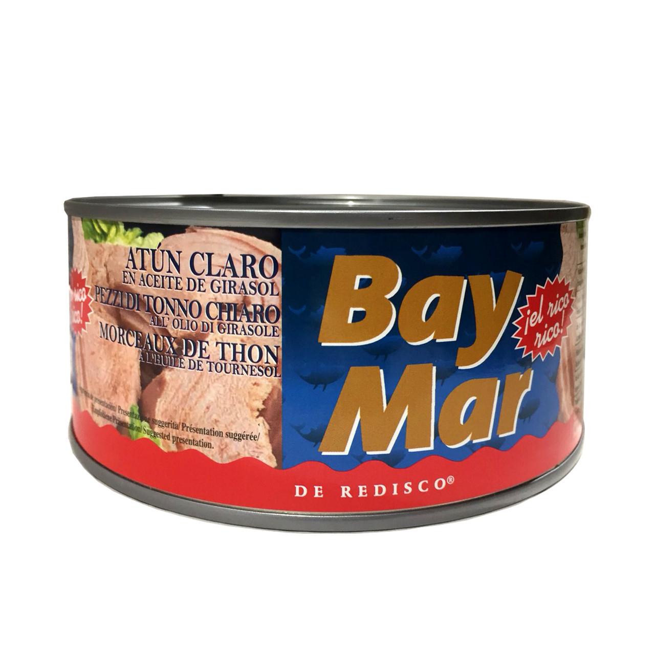 Тунець в рослинній олії BAY MAR Atun Claro шматками, 900 г (ж.б.) 12 шт/ящ 010018