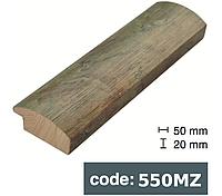 Багет дерев'яний зелений із золотою памороззю