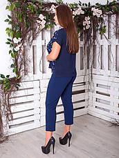 Легкая блузка больших размеров на лето разные цвета, фото 2