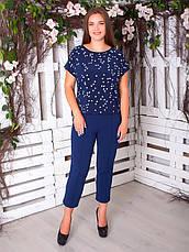 Легкая блузка больших размеров на лето разные цвета, фото 3