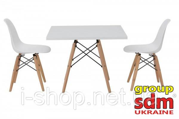 Стіл барний ТауэрWH60, квадратний, білий, 60*60 см, фото 2