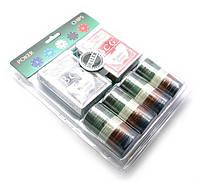 Покерный набор (2 колоды карт,сукно,100 фишек)