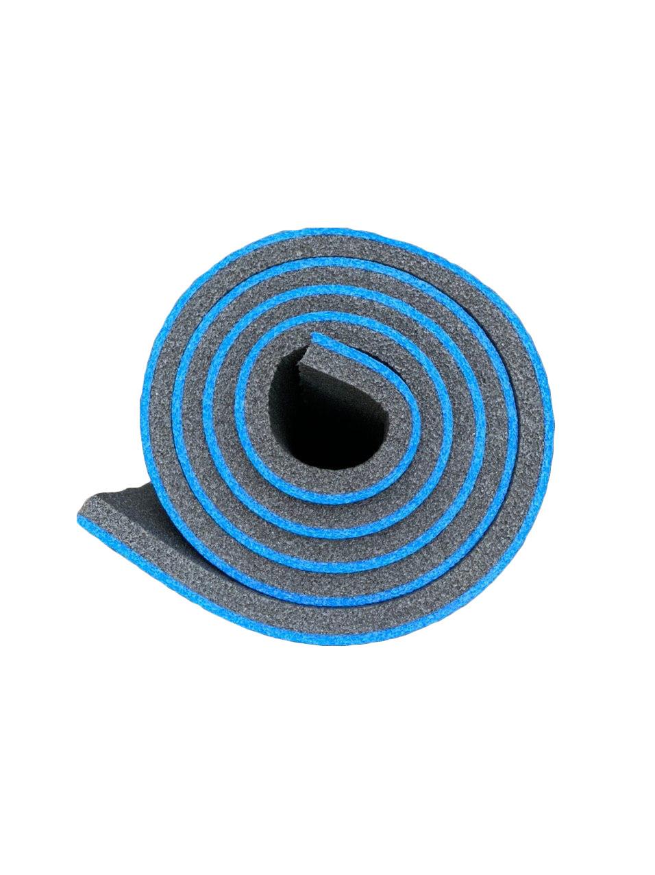 Каремат туристический, сине-серый, т. 12 мм, размер 60х180 см, производитель Украина, TERMOIZOL®