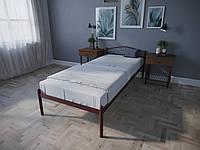 Кровать MELBI Лара Односпальная 90х190 см Бордовый лак, КОД: 1389634
