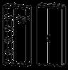 Шкаф  высокий Гранд МДФ 24\523 (800х400х2093)