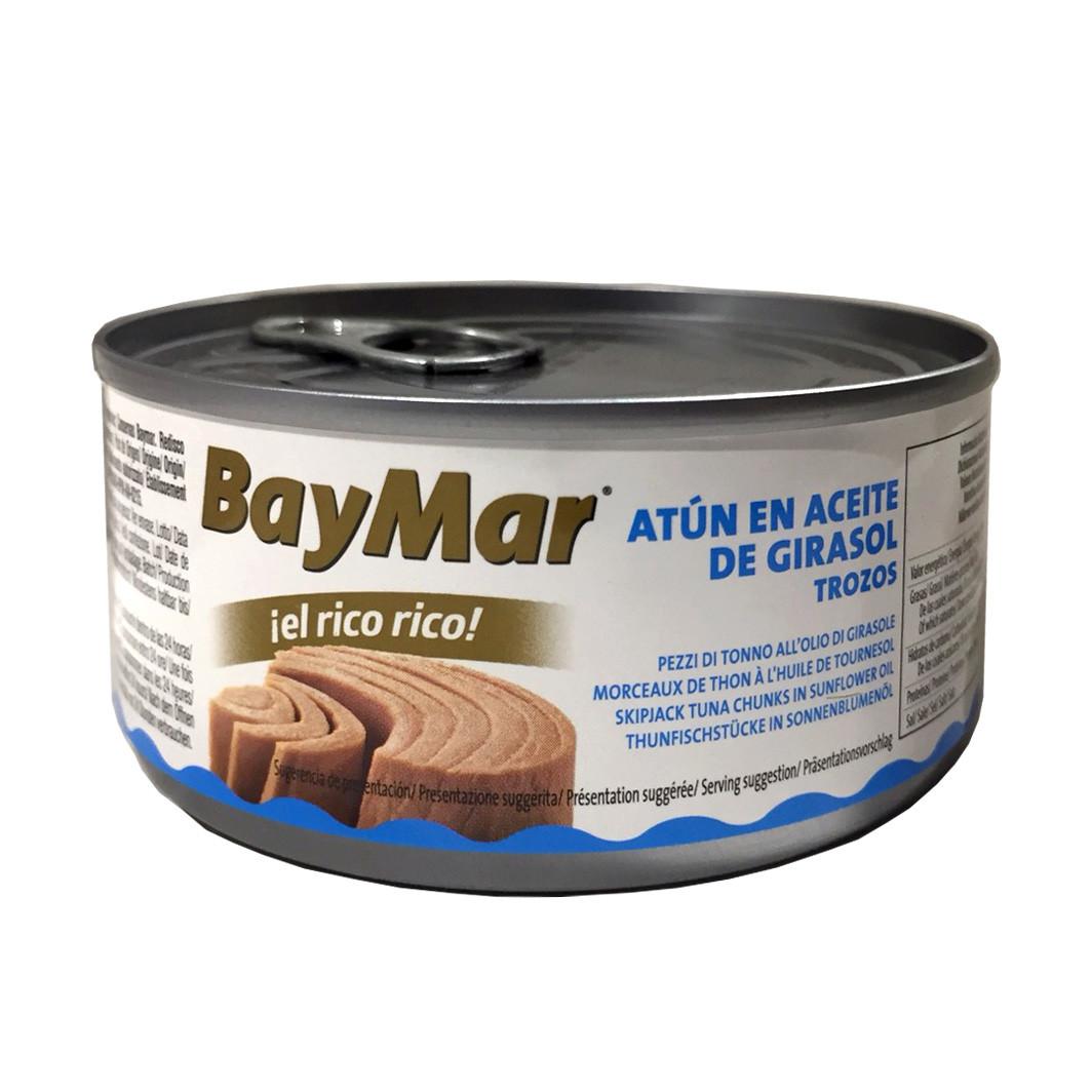 Тунець в соняшниковій олії BAY MAR Atun en aceite de girasol, 160 г (ж.б.) 24 шт/ящ. 222060