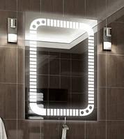 Зеркало с LED подсветкой (60*80*3см) PR-D22 с включателем кнопкой