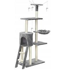 Когтеточка будиночок для кішок сіра 135 см Польща