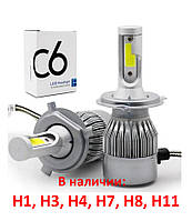 Светодиодные лампы Led C6 H1 H3 H4 H7 H8 H11 автолампы светодиодные