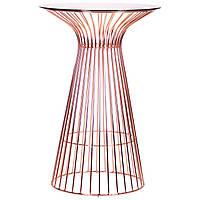 Стол Maleo, rose gold, glass top