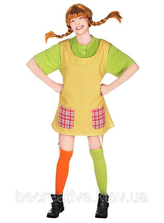 Женский карнавальный костюм Пеппи длинный чулок