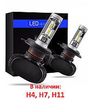 Светодиодные лампы Led S1 H4 H7 H11 автолампы светодиодные